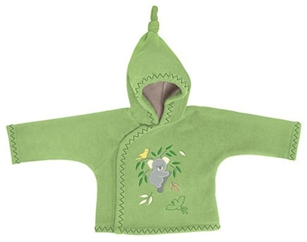 DROPPED: Green Sprouts - Origins EcoFleece Hooded Jacket Newborn 3 Months Koala Sage Green