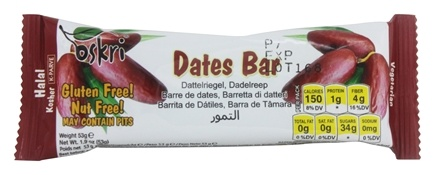 DROPPED: Oskri - Date Fruit Bar Gluten Free - 1.2 oz.