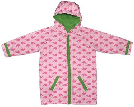 DROPPED: Green Sprouts - Midweight Raincoat 3T/4T 3-4 Years Whales Pink
