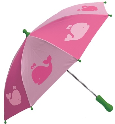 DROPPED: Green Sprouts - Print Umbrella Whales Pink
