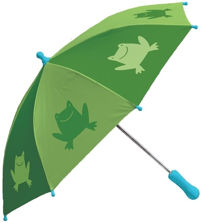 DROPPED: Green Sprouts - Print Umbrella Frogs Green