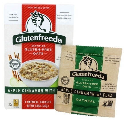 Glutenfreeda - Instant Oatmeal Apple Cinnamon with Flax 8 Packets - 11.5 oz.