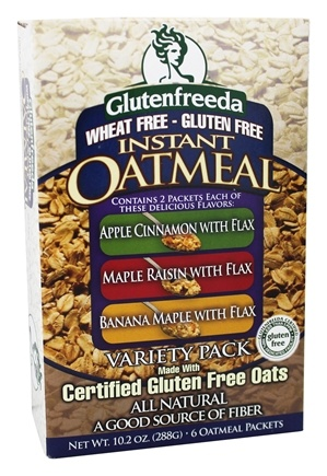 DROPPED: Glutenfreeda - Instant Oatmeal Variety Pack 6 Packets - 10.4 oz.