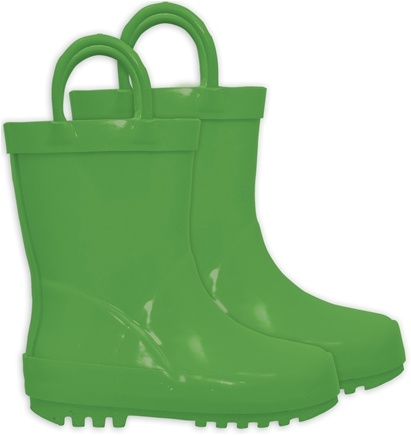 DROPPED: Green Sprouts - Solid Rubber Rain Boots Size 7 Green