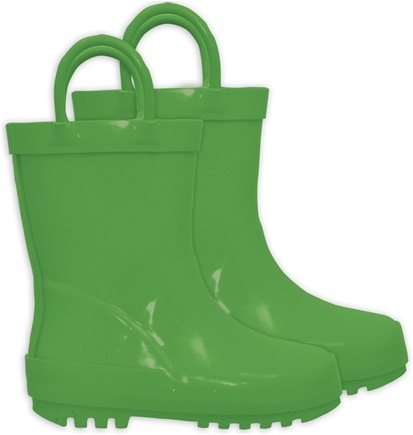 DROPPED: Green Sprouts - Solid Rubber Rain Boots Size 9 Green