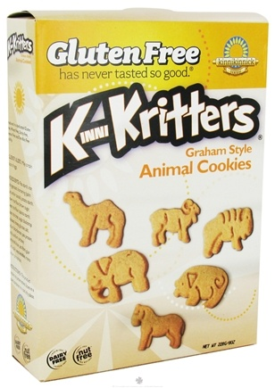 DROPPED: Kinnikinnick Foods - KinniKritters Animal Cookies Graham Style - 8 oz.