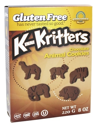 DROPPED: Kinnikinnick Foods - KinniKritters Animal Cookies Chocolate - 8 oz.