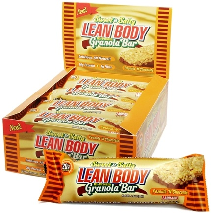 DROPPED: Labrada - Lean Body Sweet & Salty Hi-Protein Granola Bar Peanuts 'N Chocolate - 2.8 oz. CLEARANCE PRICED