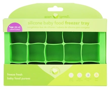 DROPPED: Green Sprouts - Silicone Baby Food Freezer Tray 15 x 1 oz. Cubes Green