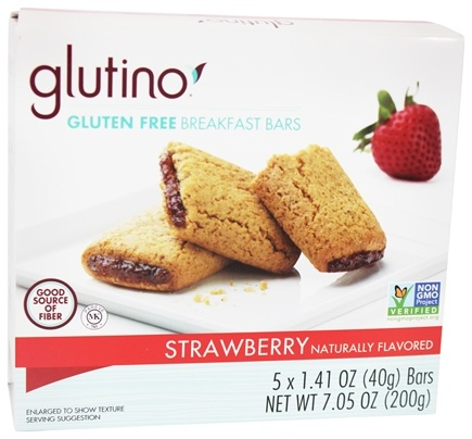 DROPPED: Glutino - Gluten Free Breakfast Bars Strawberry - 5 x 1.41 oz.