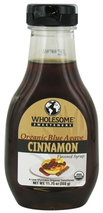 DROPPED: Wholesome Sweeteners - Organic Blue Agave Flavored Syrup Cinnamon - 11.75 oz. CLEARANCE PRICED