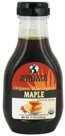 DROPPED: Wholesome Sweeteners - Organic Blue Agave Flavored Syrup Maple - 11.75 oz. CLEARANCE PRICED
