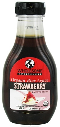 DROPPED: Wholesome Sweeteners - Organic Blue Agave Flavored Syrup Strawberry - 11.75 oz. CLEARANCE PRICED