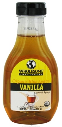 DROPPED: Wholesome Sweeteners - Organic Blue Agave Flavored Syrup Vanilla - 11.75 oz. CLEARANCE PRICED