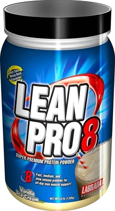 DROPPED: Labrada - Lean Pro 8 Super Premium Protein Powder Vanilla Ice Cream - 2.9 lbs. CLEARANCE PRICED