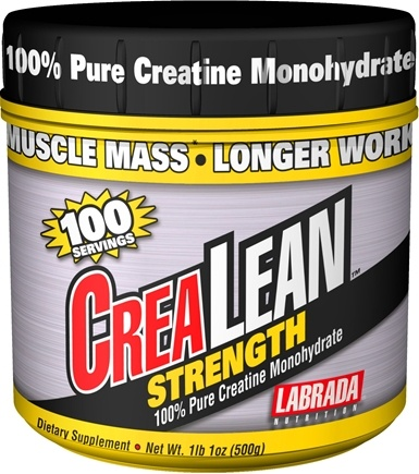 DROPPED: Labrada - CreaLean Strength 100% Pure Creatine Monohydrate (500 Grams) - 17 oz. CLEARANCE PRICED