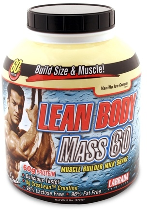 DROPPED: Labrada - Lean Body Mass 60 Vanilla Ice Cream - 6 lbs. CLEARANCE PRICED