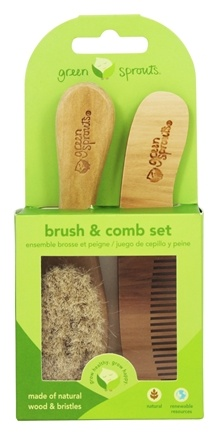 Green Sprouts - Brush And Comb Set 0-6 Months Natural Color