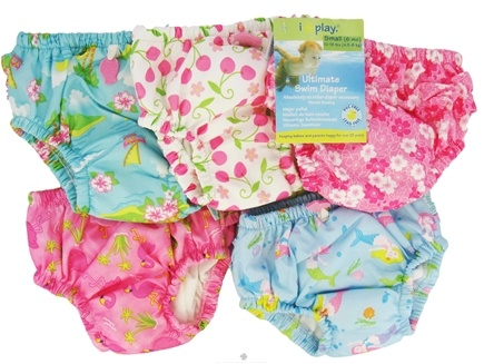 DROPPED: Green Sprouts - Ultimate Swim Diaper Mixed Print Girls Small 6 Months - CLEARANCE PRICED