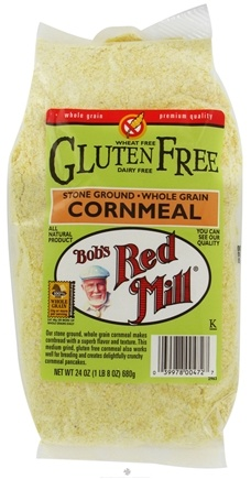 DROPPED: Bob's Red Mill - Cornmeal Stone Ground Whole Grain Gluten Free - 24 oz. CLEARANCE PRICED