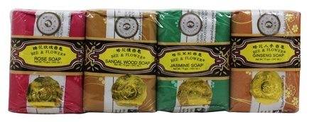 Bee & Flower Soap - Bar Soap Mixed Gift Pack - 4 Bars