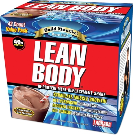 DROPPED: Labrada - Carb Watchers Lean Body Hi-Protein Meal Replacement Shake 42 X 2.29 oz. Packets Chocolate Ice Cream - CLEARANCE PRICED