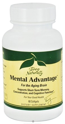 DROPPED: EuroPharma - Terry Naturally Mental Advantage For The Aging Brain - 60 Softgels CLEARANCE PRICED