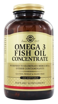 Solgar - Omega 3 Fish Oil Concentrate - 240 Softgels