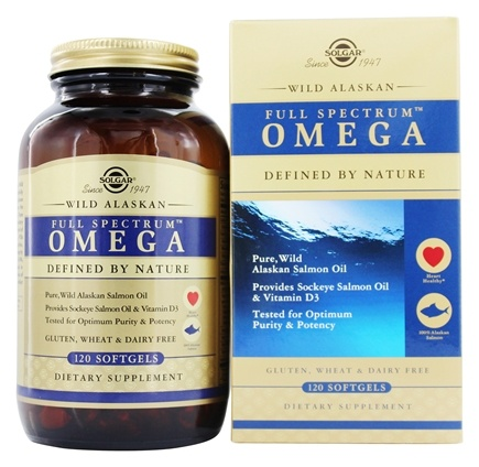 Solgar - Full Spectrum Omega Wild Alaskan Salmon Oil - 120 Softgels