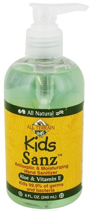 DROPPED: All Terrain - Kids Sanz With Aloe & Vitamin E - 8 oz. CLEARANCE PRICED