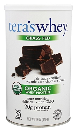 Tera's Whey - Organic Whey Protein Fair Trade Dark Chocolate - 12 oz.