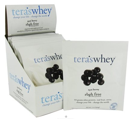 DROPPED: Tera's Whey - Whey Protein rBGH Free Acai Berry - 1 oz. CLEARANCE PRICED