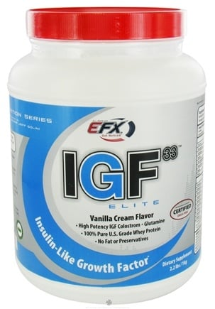 DROPPED: All American EFX - IGF33 Elite Vanilla Cream - 2.2 lbs. CLEARANCE PRICED