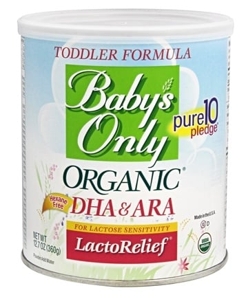 Baby's Only - Organic DHA & ARA LactoRelief Toddler Formula - 12.7 oz.