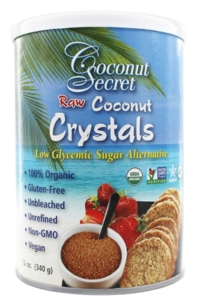 Coconut Secret - Raw Coconut Crystals Low Glycemic Sugar Alternative - 12 oz.