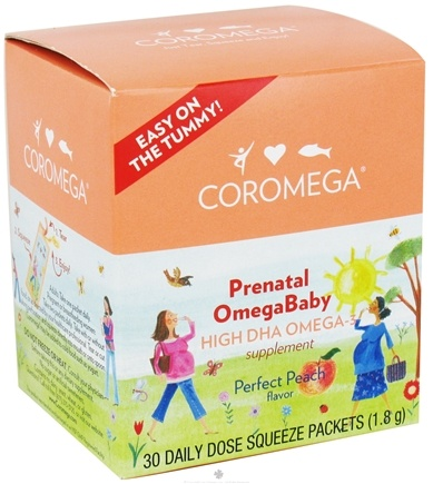 DROPPED: Coromega - Prenatal OmegaBaby High DHA Omega-3 Perfect Peach - 30 Packet(s)