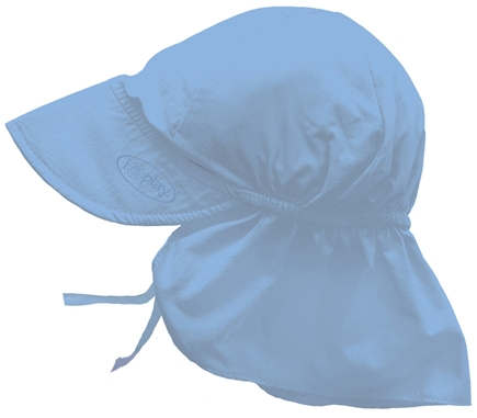 DROPPED: Green Sprouts - Solid Flap Sun Protection Hat Newborn 0-6 Months Light Blue - CLEARANCE PRICED