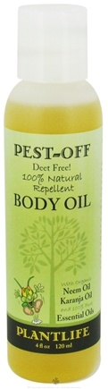 DROPPED: Plantlife Natural Body Care - Pest-Off Body Oil Natural Repellent Deet Free - 4 oz. CLEARANCE PRICED