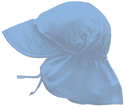 DROPPED: Green Sprouts - Solid Flap Sun Protection Hat Infant 6-18 Months Light Blue - CLEARANCE PRICED