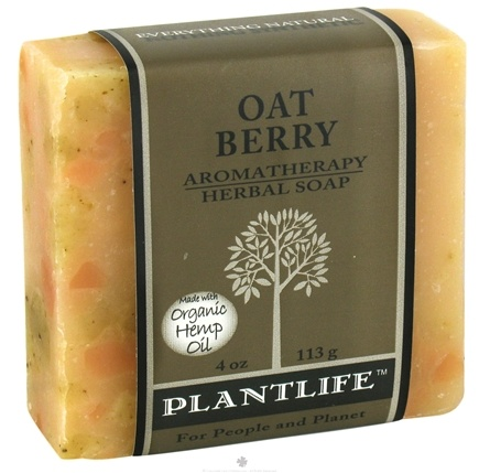 DROPPED: Plantlife Natural Body Care - Aromatherapy Herbal Soap Oat Berry - 4 oz. CLEARANCE PRICED