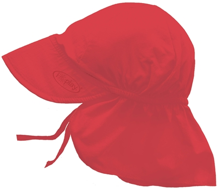 DROPPED: Green Sprouts - Solid Flap Sun Protection Hat Infant 6-18 Months Red - CLEARANCE PRICED