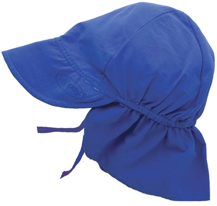 DROPPED: Green Sprouts - Solid Flap Sun Protection Hat Infant 6-18 Months Royal Blue