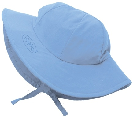 DROPPED: Green Sprouts - Solid Brim Sun Protection Hat Infant 6-18 Months Light Blue