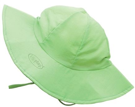 DROPPED: Green Sprouts - Solid Brim Sun Protection Hat Infant 6-18 Months Lime Green - CLEARANCE PRICED
