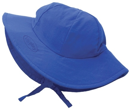 DROPPED: Green Sprouts - Solid Brim Sun Protection Hat Newborn 0-6 Months Royal Blue - CLEARANCE PRICED