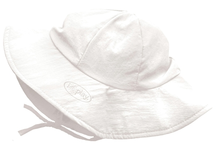DROPPED: Green Sprouts - Solid Brim Sun Protection Hat Newborn 0-6 Months White - CLEARANCE PRICED