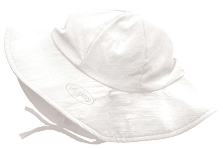 DROPPED: Green Sprouts - Solid Brim Sun Protection Hat Infant 6-18 Months White - CLEARANCE PRICED
