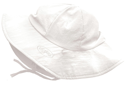 DROPPED: Green Sprouts - Solid Brim Sun Protection Hat Toddler 2-4 Years White - CLEARANCE PRICED