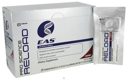 DROPPED: EAS - Pro Science Reload Lean Muscle Formula Cherry - 21 Packet(s)
