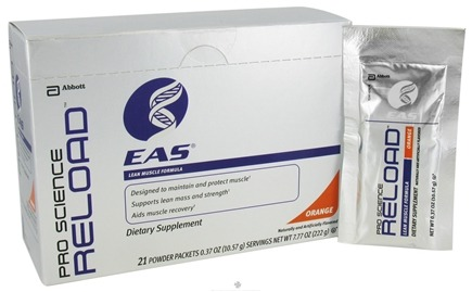 DROPPED: EAS - Pro Science Reload Lean Muscle Formula Orange - 21 Packet(s) CLEARANCE PRICED
